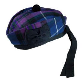 Boina Glengarry Pride of Scotland with Black Pompom Wool