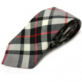Gravata Masculina Tartan Grey Thompson