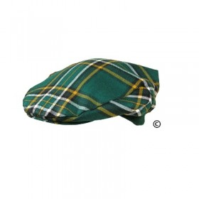 Boina Tartan Golf Cap/Hat - Made In Scotland - 100% Lã ~ Irish