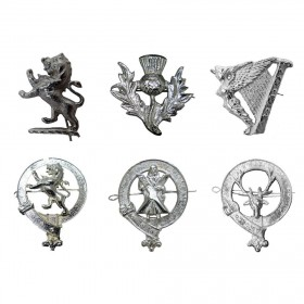 PIN Chrome Metal Cap Badges for Scottish