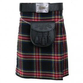 Kilt Black Stewart Scottish 5 Jardas  10 onças