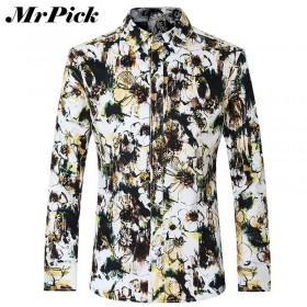 Camisa Masculina Mr Pick Manga Comprida Street Flower #301